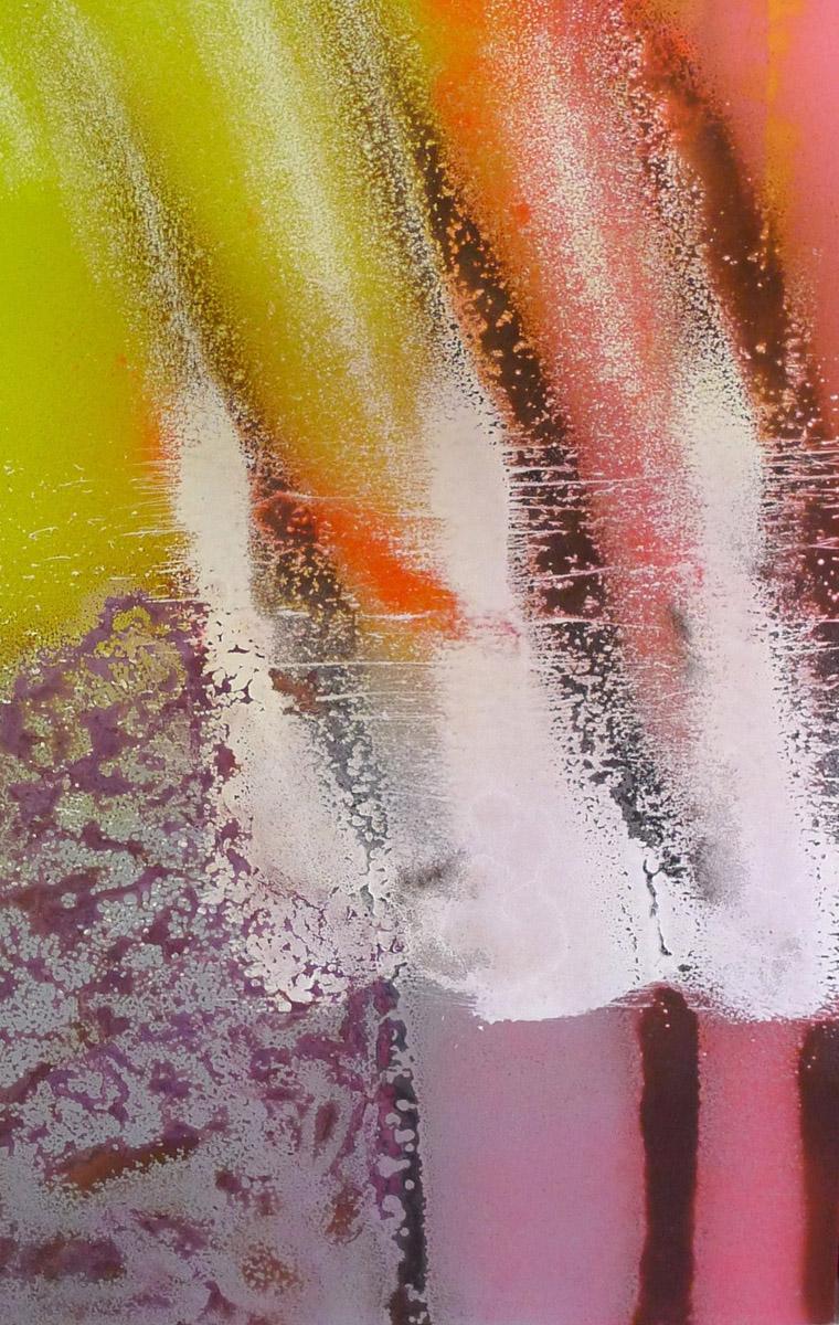 S3C1, Acrylique, Glycéro et spray sur médium, 120x80 cm. par Anne Solenn Chérat, Décoratrice UFDI, Artiste peintre sur Lorient, Vannes, Pontivy.