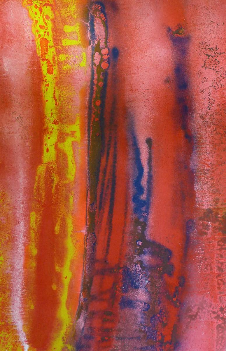 S3C5, Acrylique, Glycéro et spray sur médium, 120x80 cm. par Anne Solenn Chérat, Décoratrice UFDI, Artiste peintre sur Lorient, Vannes, Pontivy.