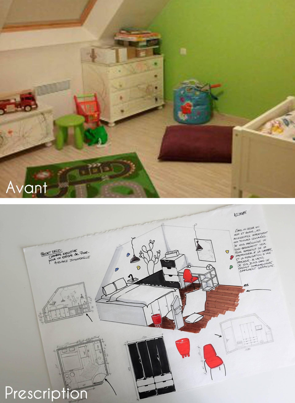 Chambre Enfant, Ambiance Intemporelle et évolutive par Anne Solenn Chérat, Décoratrice UFDI sur Lorient, Vannes, Pontivy: décoration de la chambre d'un petit garçon à Pont-Scorff