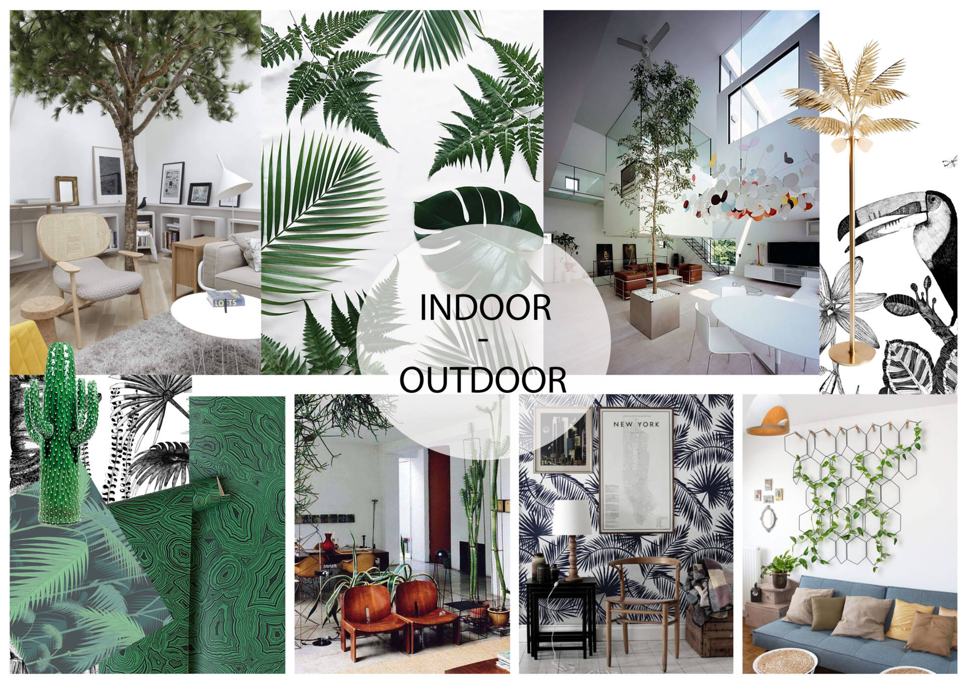 Moodboard indoor-outdoor par Anne Solenn Chérat, Décoratrice UFDI sur Lorient, Vannes, Pontivy.