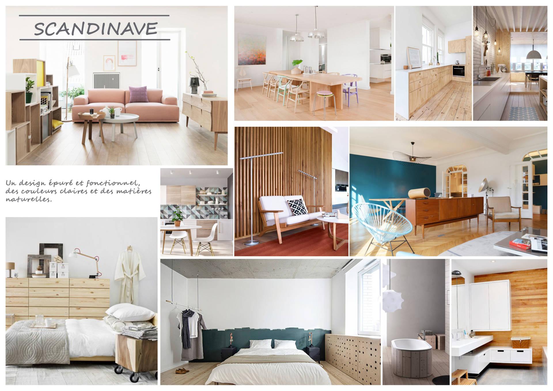 Moodboards Scandinave par Anne Solenn Chérat, Décoratrice UFDI sur Lorient, Vannes, Pontivy.