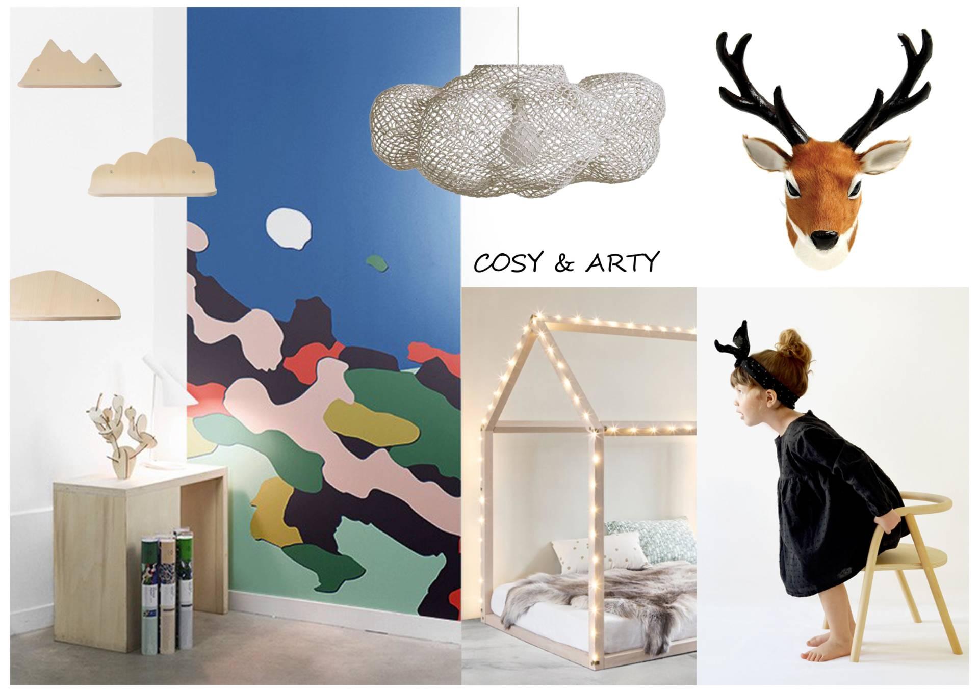 Moodboards cosy et arty par Anne Solenn Chérat, Décoratrice UFDI sur Lorient, Vannes, Pontivy.