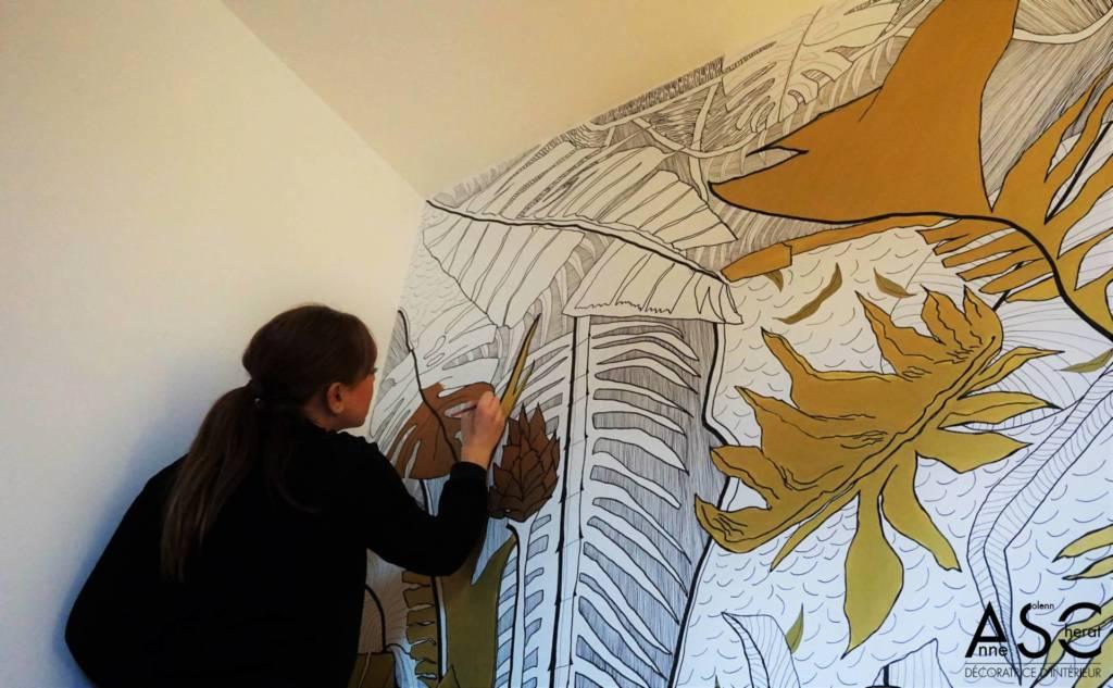 Décor peint par Anne-Solenn CHERAT sur Lorient Quimper Vannes Pontivy