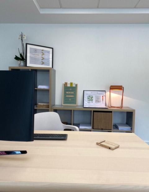 Décoration d'une agence de communication par Christelle Chaut et Anne-Solenn Cherat Décoratrices UFDI sur Lorient, Vannes, Pontivy.